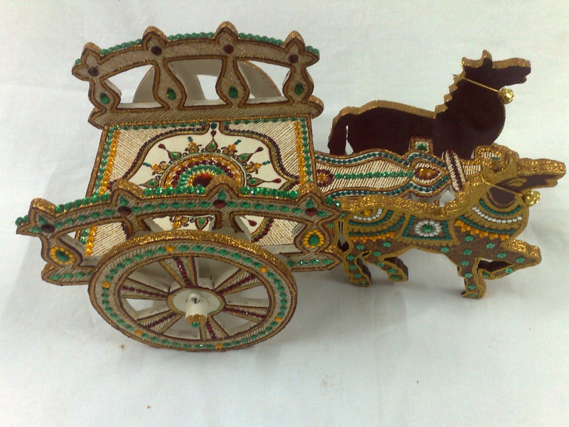 decorated horse cart indian wedding indian shaadi www.ranjanaarts.com