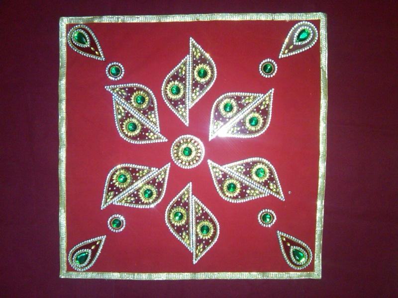 acrylic diwali rangoli 4