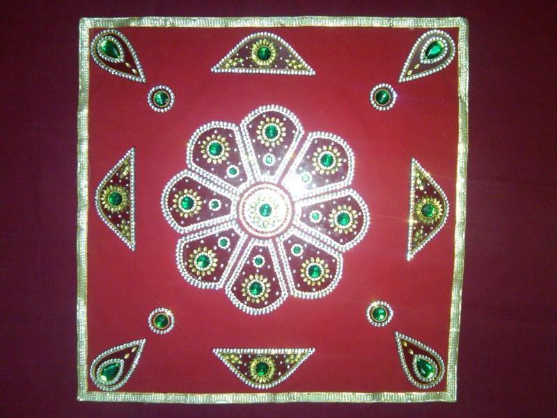 acrylic diwali rangoli 6