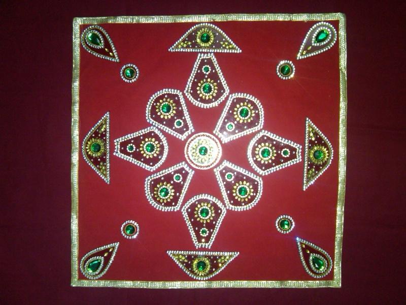 acrylic diwali rangoli 5